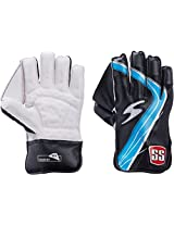 SS Academy Youth Wicket Keeping Gloves (White/Blue)