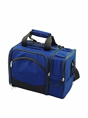 Picnic Time Malibu Insulated Cooler Picnic Tote, Service for 2 (Navy Blue)