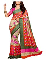 Fashion Apparel Women's Cotton Silk Saree with Blouse Piece (Orange)