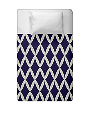 e by design Geometric Duvet Cover (Brown/Blue)