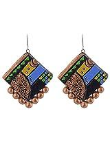 Avarna Enamel Jhumki Earrings for Women (Multi-Colour)
