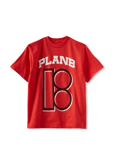 Plan B Boy's Division Short Sleeve Tee (Red)