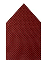 Navaksha Red Geometrical Pocket Square