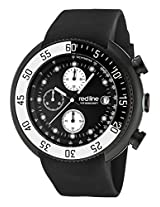 Red Line Watches, Men's Driver Chronograph Black Dial Black IP Case Black Silicone, Model 50038-BB-01-WBBZ
