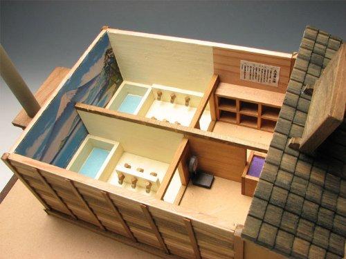 ツ 小林工芸 木制 建筑 模型 昭和 の銭汤 澡