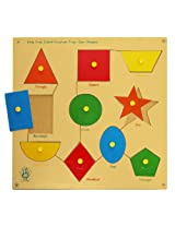 Skillofun Large 'Shapes' Shape Tray - Triangle, Multi Color