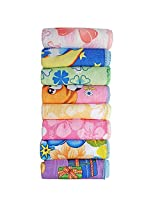 Littly Baby Wash Cloths/ Hankies, Pack of 8 (Multicolor)