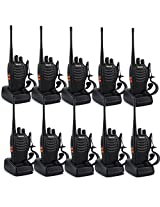 Special Offer!!!Retevis H-777 2-Way Walkie Talkie UHF 400-470MHz 5W 16CH Single Band With Earpiece Hand Held Mobile Amateur Radio Walkie Talkie Ham Radio Black 10 Pack High Quality!!!