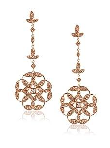 Belargo Women's Embellished Drop Earrings, Rose Gold