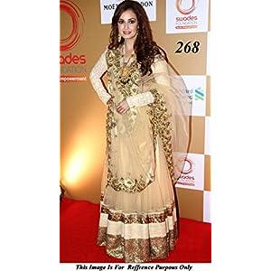 Bollywood Replica Dia Mirza Net Lehenga In Gold Colour NC696