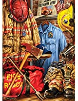 Masterpieces 71511 Dona Gelsinger Fire And Rescue Puzzle, 1000 Pieces