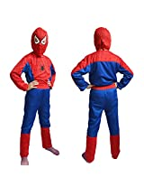 Spiderman costume fancy dress outfit suit mask children (3-5 Years)