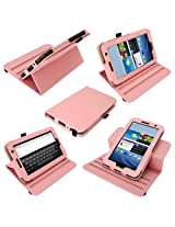 igadgitz Pink 360 Rotating Detachable PU Leather Case Cover for Samsung Galaxy Tab 2 P3100 P3110 7.0 3G & WiFi Android 4.0 Internet Tablet + Screen Protector