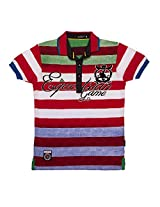 Gusto 1379 Boy's Cotton T-Shirt (Size : 12-13 Years) - Red