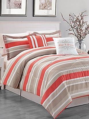 Luxury Home 6-Piece Wesley Comforter Set