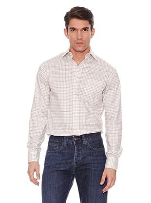 Hackett Camisa Cuadros (Verde / Beige / Marrón)