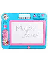 Magic Writing Board with Calculation Panel & Pinball Game for Kids Ages 3+ Years, 32 x 40 cm, 1 Piece, Color : Blue