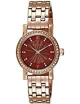 Giordano Analog Brown Dial Women's Watch - 2729-55