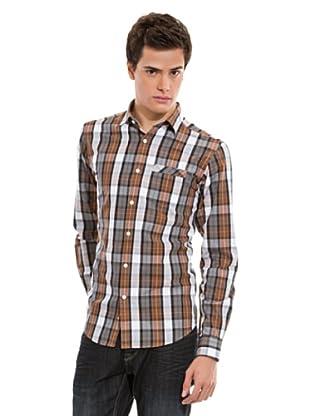 Springfield Hemd (braun/weiß/grau)