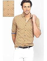 Printed Khaki Casual Shirt Basics