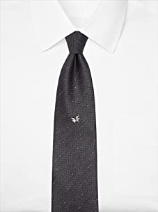 Nina Ricci Men's Kissing Bird Tie, Charcoal