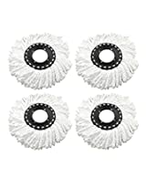 House of Quirk Pack of 4 Replacement Head Refill for 360 Rotating Easy Mop Magic Mop Spin Mop Cleaner Duster