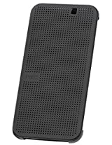 HTC Dot View Case for HTC One M9 - Retail Packaging - Black