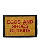Egos and Shoes Doormat - Brown