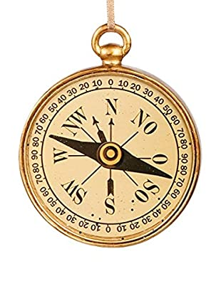 Winward Handcrafted Compass Ornament, Antique Gold