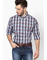 Shirt Blue / Rio Red-Pt Full Sleeve Casual Shirts