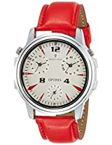 Optima Analog White Dial Men's Watch - FT-ANL-2526