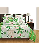 Swayam Veda Collection Printed 4 Piece Cotton Bed in a Bag Set - Multicolour