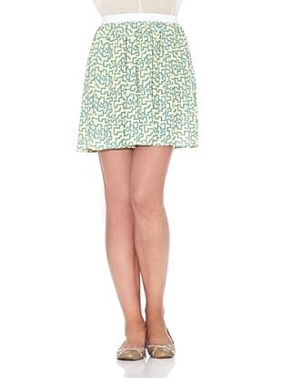 American Vintage Falda Estampado (Vainilla)