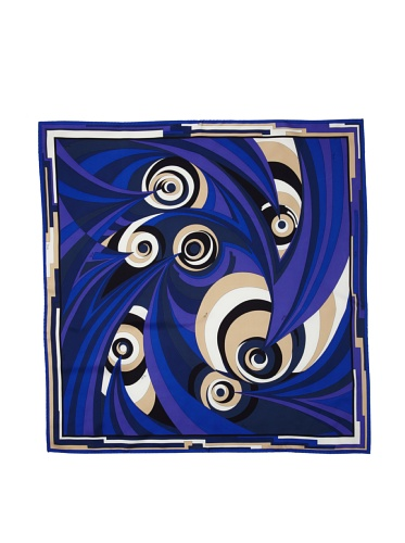 Emilio Pucci Women's Swirl Optic Scarf (Blue)