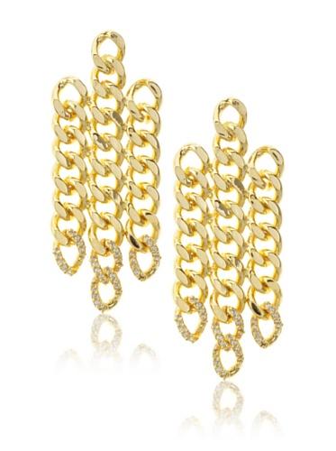 Joanna Laura Constantine Gold Link Dangle Earrings