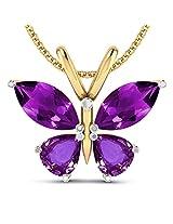 Amethyst Butterfly Pendant