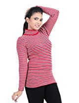 Renka Women's Knitted Winter Top (814_red_Large)