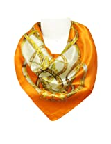 Wrapables Luxurious 100% Charmeuse Silk Square Scarf, Seal of Fashion
