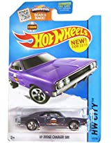 Hot Wheels 2015 Hw City Purple 69 Dodge Charger 500 19/250