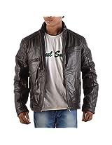 Yas Fashions Men's Slim Fit Leather Winter Jacket ( Y06-XXXXX Large_Brown_XXXXX-Large )