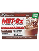 MET-Rx Meal Replacement powder boxed - Extreme Chocolate, 72 grams, 40-Count Packets Box