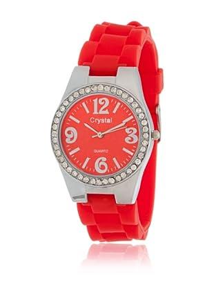My Silver Reloj Reloj Plata Rojo Strass