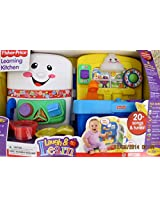 Fisher Price LAUGH & Learn LEARNING KITCHEN Playset w LIGHTS & SOUNDS & 4 INTERACTIVE BiLingual PLAY