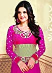 Zarine Khan Georgette Embroidered Anarkali Suits 2014