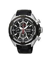 Seiko Barcelona SNAF39P2 Black Chronograph Watch - For Men