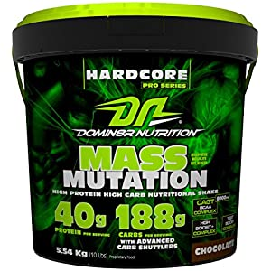 DN Mass Mutation Belgian Chocolate Weight Gainers & Mass Gainers 4.54kg (10lbs)