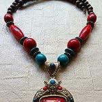 Handmade tibetan style long pendant.