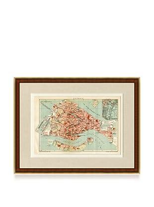 Antique Venice 1890's Map