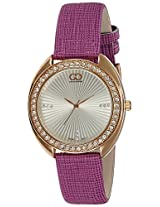 Gio Collection Analog White Dial Women's Watch - G0050-04