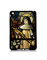Saint Monica Holding the Cross of Jesus Cover Case for Ipad Mini by Atomic Market